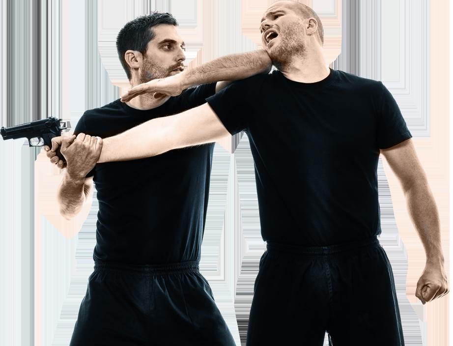 man fighting an attacker